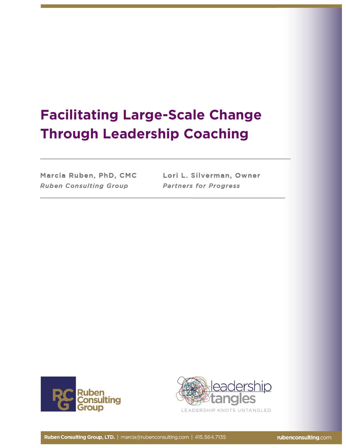 Facilitating Large Scale Change Through Leadership Coaching