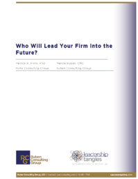 Who Will Lead Your Firm Into the Future